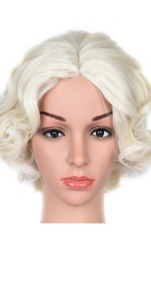 Short Blonde Synthetic Wig
