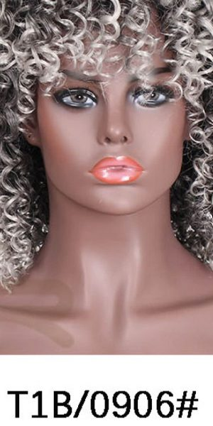 Blonde, synthetic, curly wigs