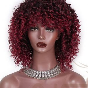 Dark Red Synthetic Wigs