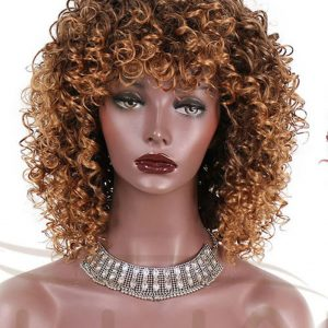 Brownish Blonde Synthetic Wigs. Heat resistant