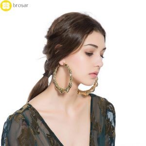 Eco-friendly Bamboo Hoop Earrings