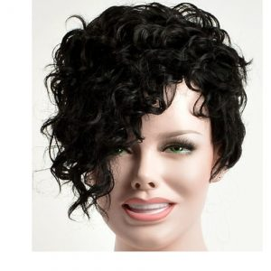Stylish short  Black wig, side bang