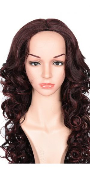 Long Red Wig, synthetic