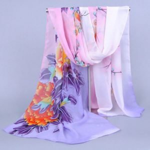 Stunning Long & Soft Silk Voile Scarf