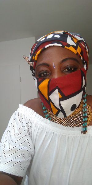 AFRICAN PRINT HEADWRAP SCARF WITH FACE MASK COMBO. FREE SHIPPING