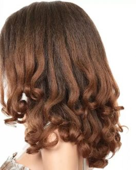20inch Loose Wavy Synthetic Hair. Color T1b/30 (Brown) Pre Plucked With Baby Hair. Synthetic Wig. Fluffy &Heat Resistant
