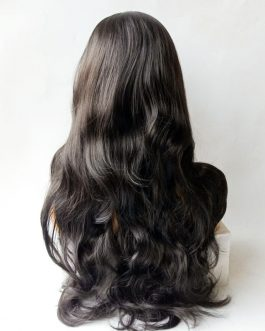 DARK BROWN Deep Wave Wigs. Synthetic hair wigs. Heat resistant.